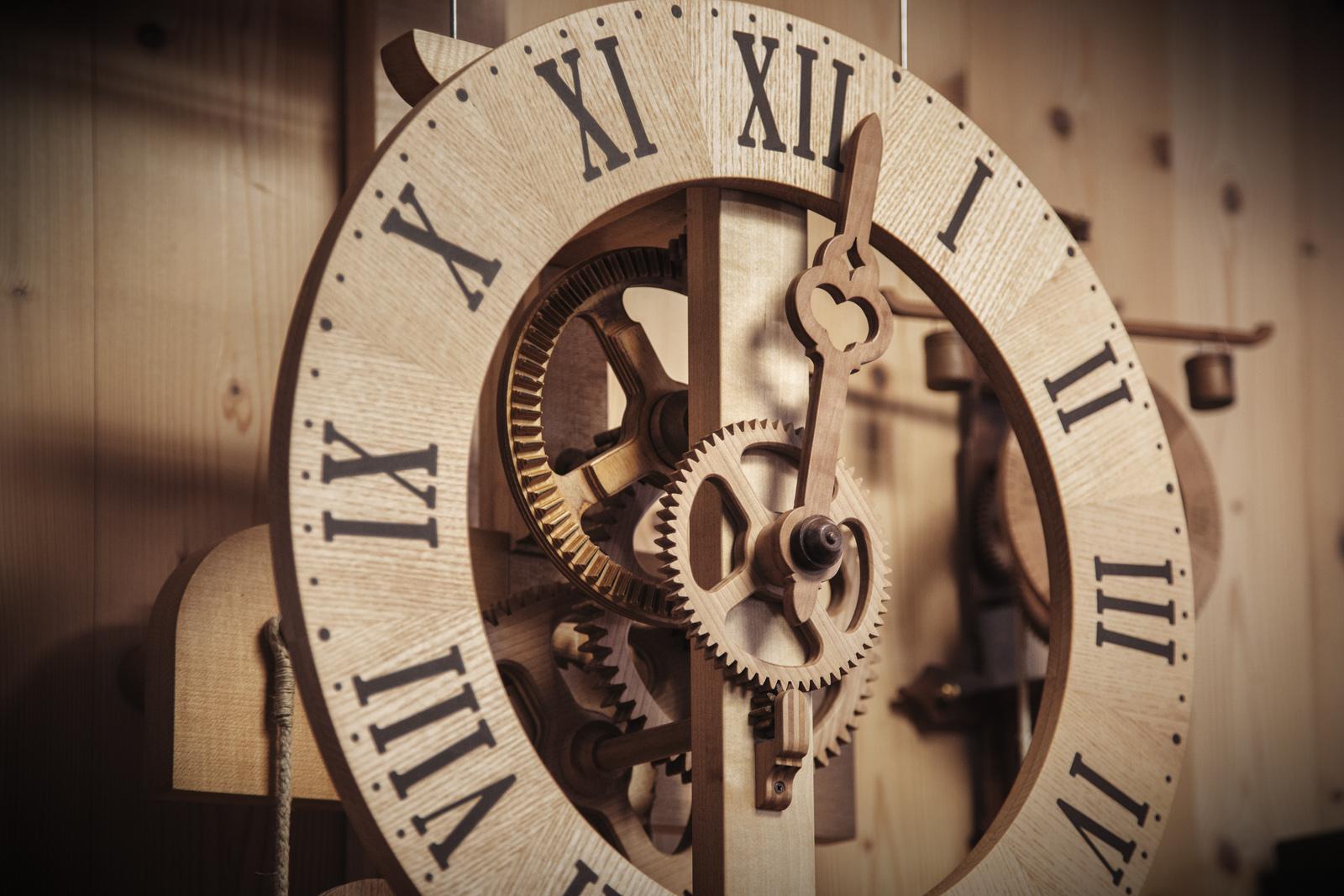 Orologio a parete con scappamento di Leonardo da Vinci
