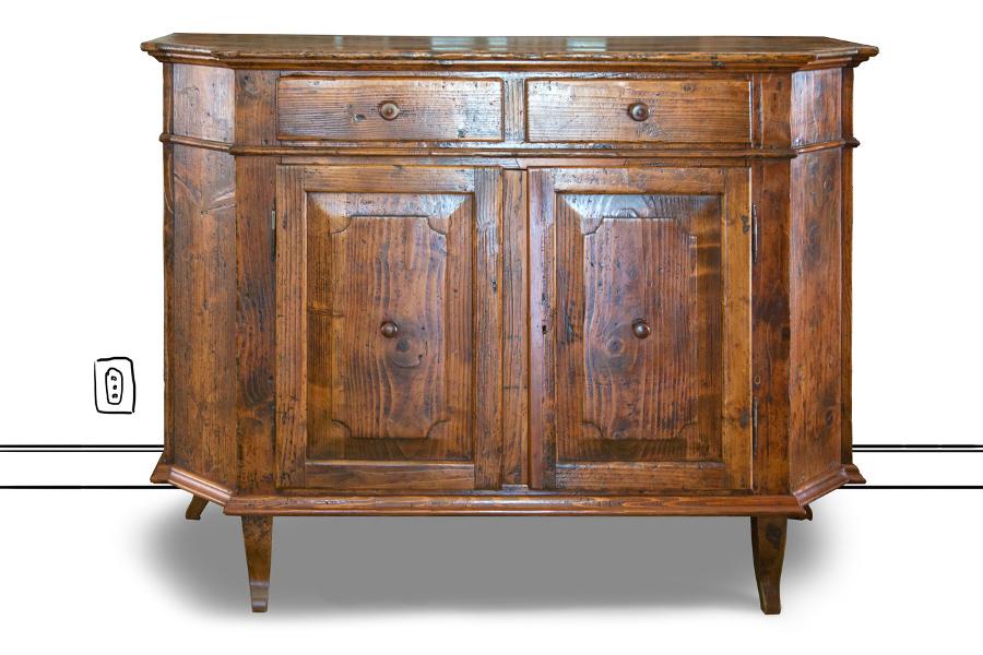Boiserì in legno antico