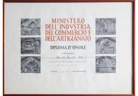 Diploma d'onore f.lli Rossitti 1968 Ministero Industria e Commercio