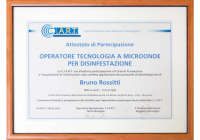 Attestato C.i.a.r.t. Bruno Rossitti